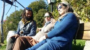 Scott, Uli and Rebecca enjoying the view