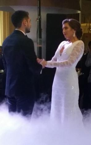 Adrian and Carmen in their dreamy, spectacular wedding.