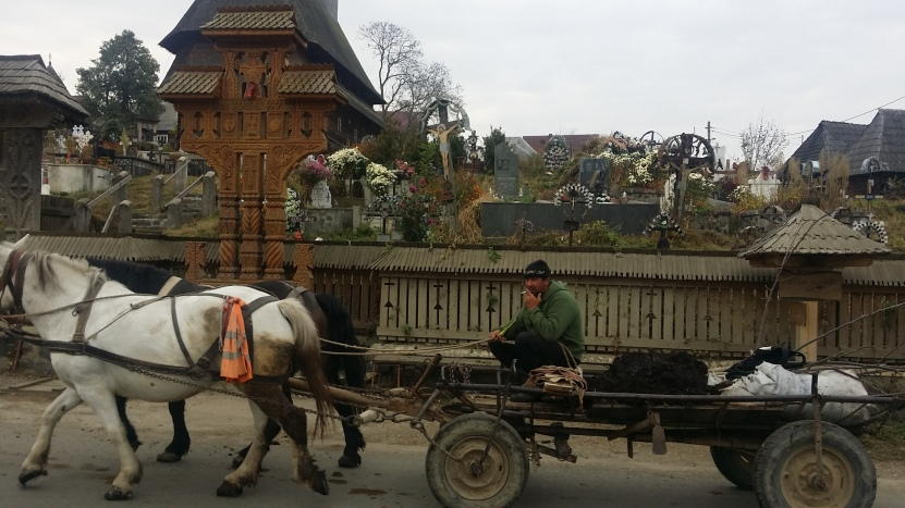 Horse-drawn carts are a way of life here.
