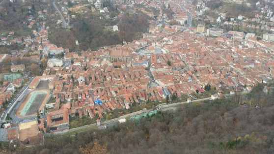 The view from near the BRASOV sign.