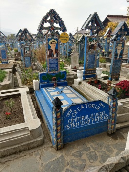 The creator of the Merry Cemetary grave markers is honored by his descendants.