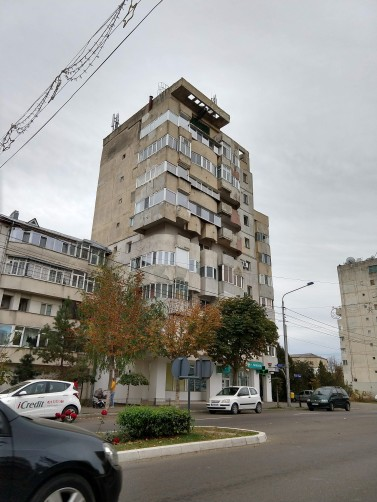 Never-ending Soviet Era housing shows some refurbishing and individualization since the Revolution, but we think that the architectural style is still awful.