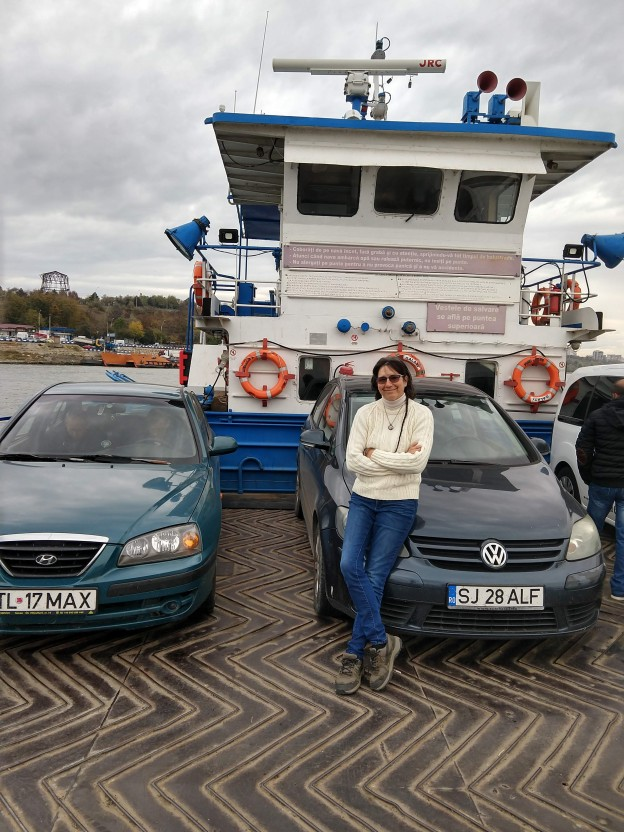 We crossed the Danube on this ferry from Galati to the Danube Delta