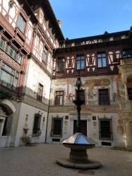 We were able to see the interior courtyard, but the castle itself was closed for renovations.