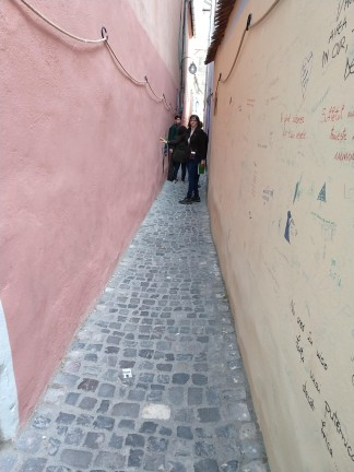 Rope Street was the narrowest street in the city.