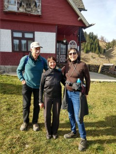 Rebecca and I with Maria Stoian, who stays here alone, sometimes, through the winters.