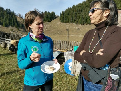 Natalie tells Rebecca about the meadows that are cared for by the locals. If they leave, the forests will take over within a few generations and the biodiversity and the mountain culture will be lost.