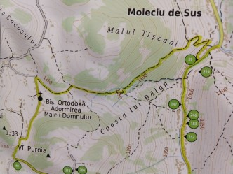 "We saw posters all over the Fundata Valley showing walking, biking, and running ""eco-tourism"" trails."