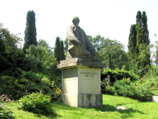 Statue of founder, Alexandre Borza