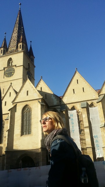 Adela tells about the history of the guilds in Sibiu.